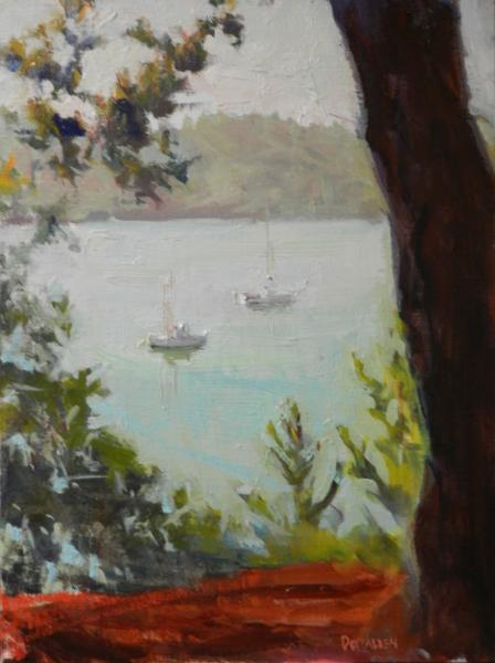 Fishing Boat plein air painting