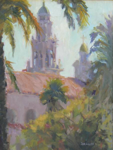 Plein Air Landscape painting - St. Vincent's Courtyard
