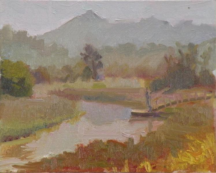 plein air landscape painting of McInnis Creek