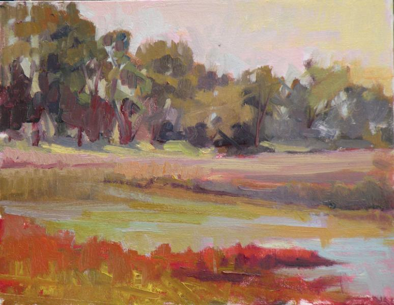 Plein Air Landscape - Pacheco Pond Morning