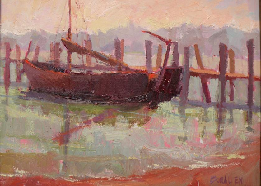 Plein Air Landscape Painting - Chinese Shrimper