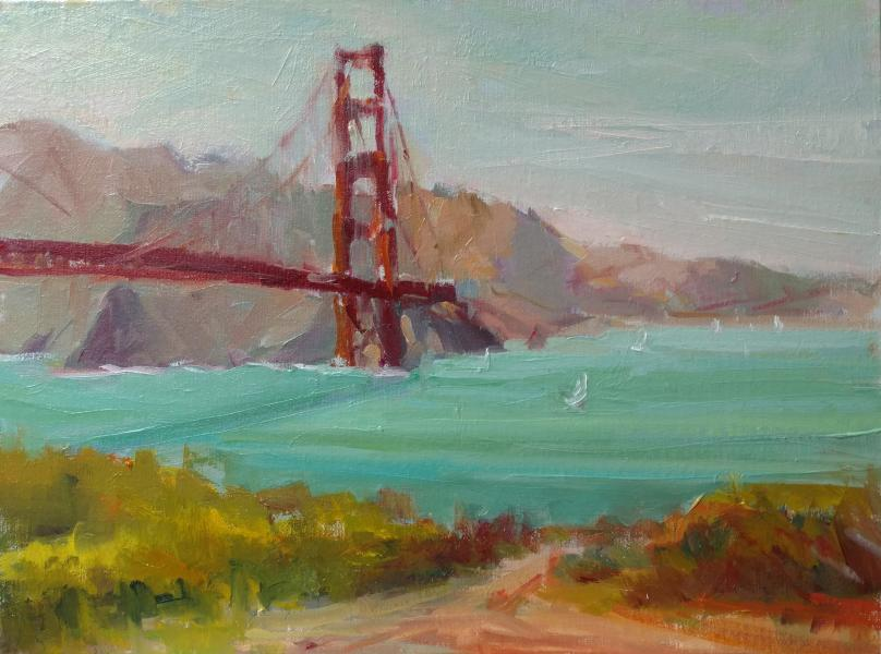 Golden Gate Bridge plein air