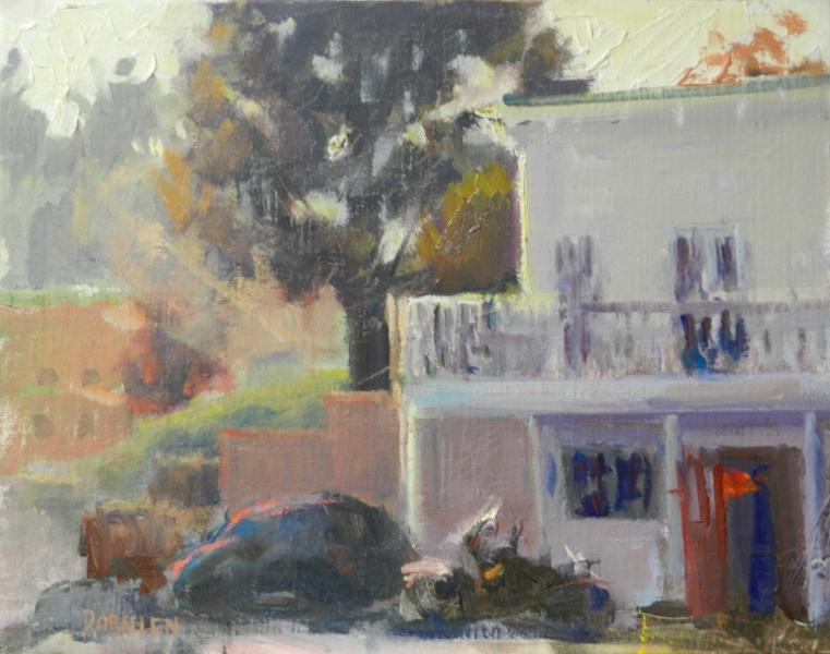 Smiley's of Bolinas plein air painting