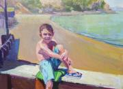"My grandson, Jett 18""x24"" oil on linen"